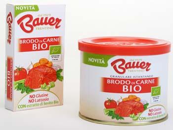 Bauer - Nuova linea di brodi di carne biologici