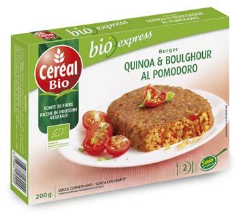 Céréal BIO - Burger di quinoa & boulghour al pomodoro