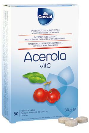 Cosval - Acerola: vitamina C in tavolette