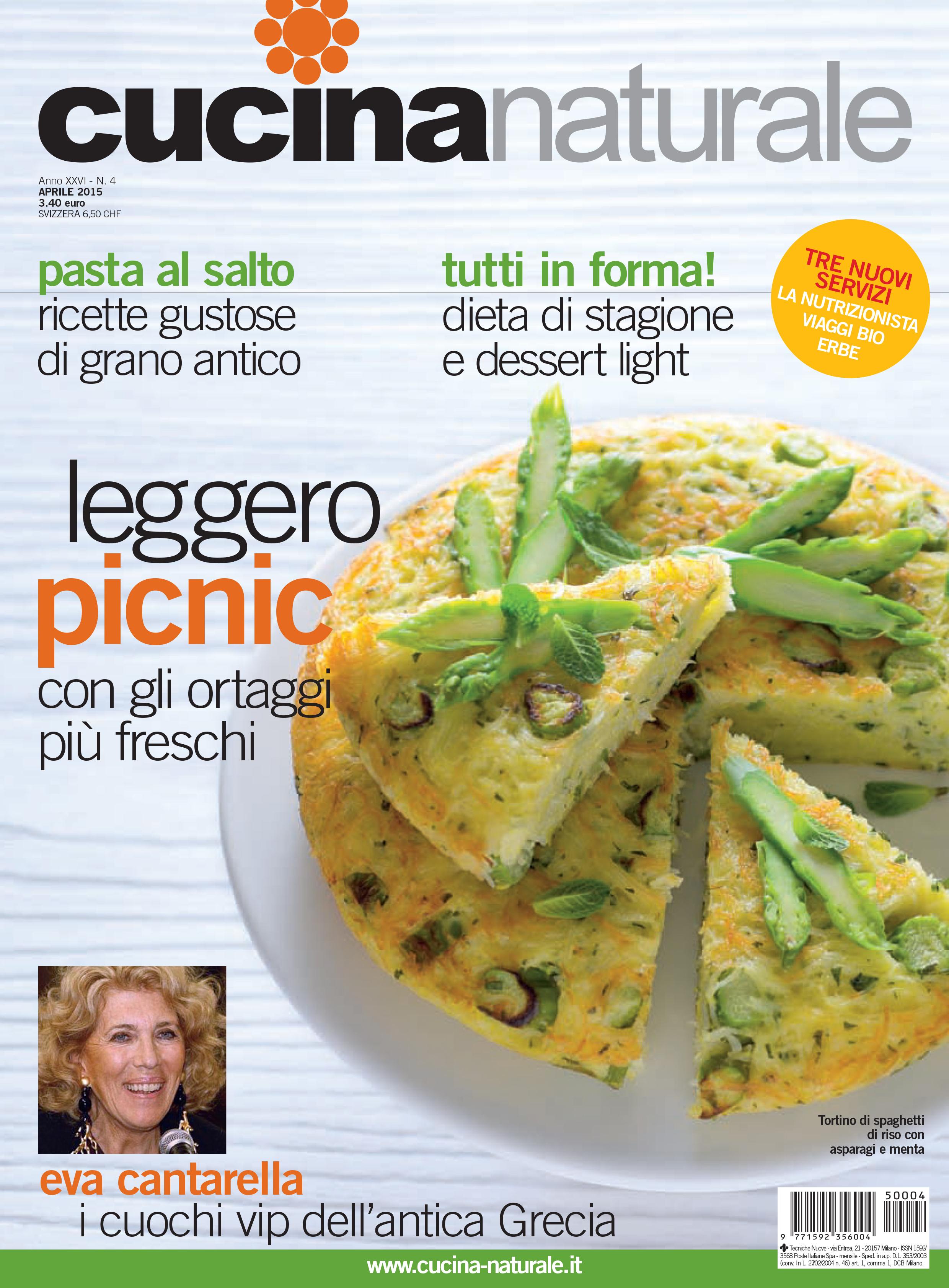 Cucina Naturale di aprile: tante ricette e 3 nuove rubriche