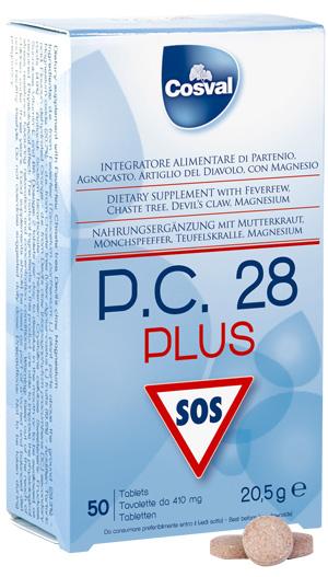 Cosval - P.C. 28 Plus, contro emicrania e dolori