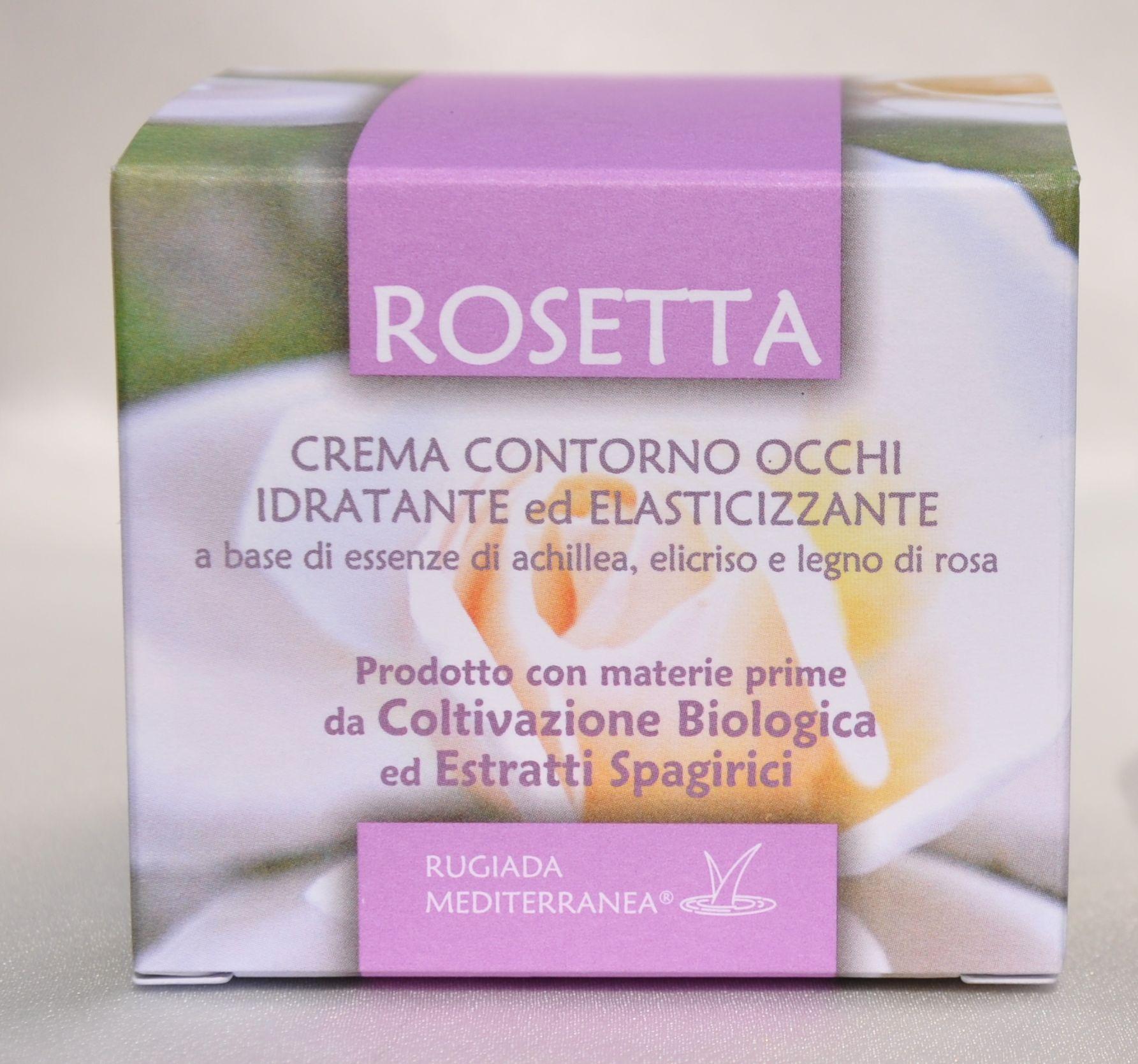 Rugiada Mediterranea - Rosetta, crema contorno occhi idratante ed elasticizzante