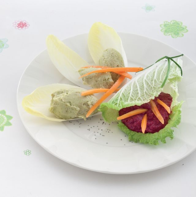 Antipasto ai due paté di legumi
