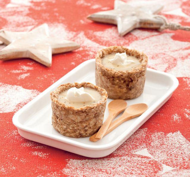 Cestini di pane con crema alle foglie di carciofo