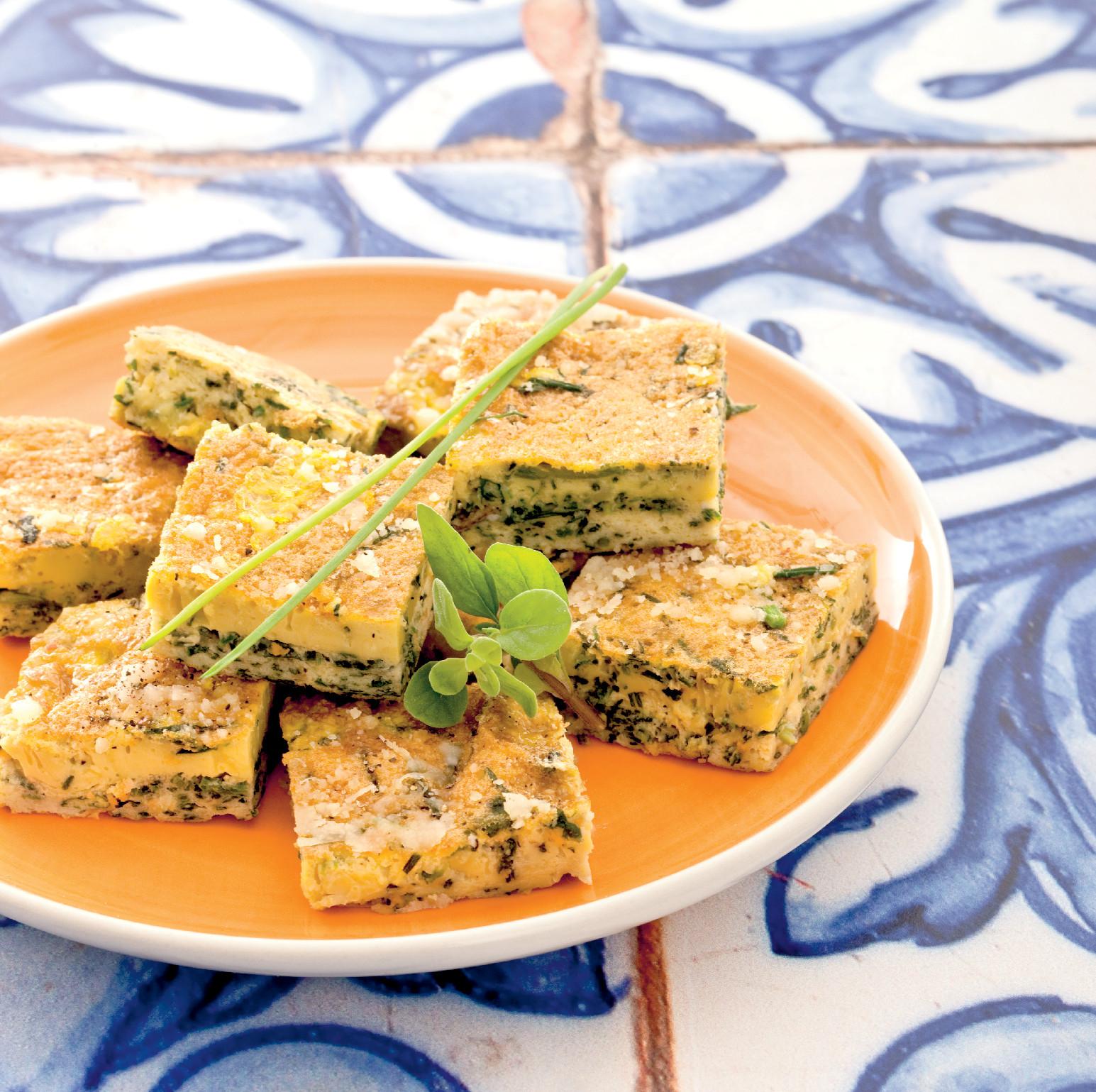 Omelette soffice alle erbe aromatiche