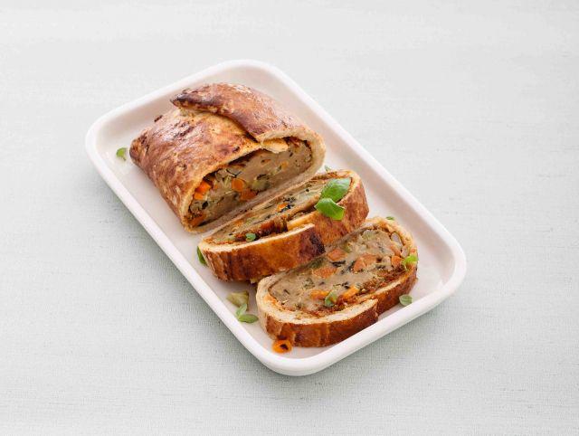 Arrosto di broccoli e seitan in crosta di pane