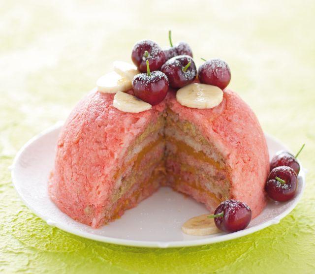 Zuccotto semifreddo di frutta
