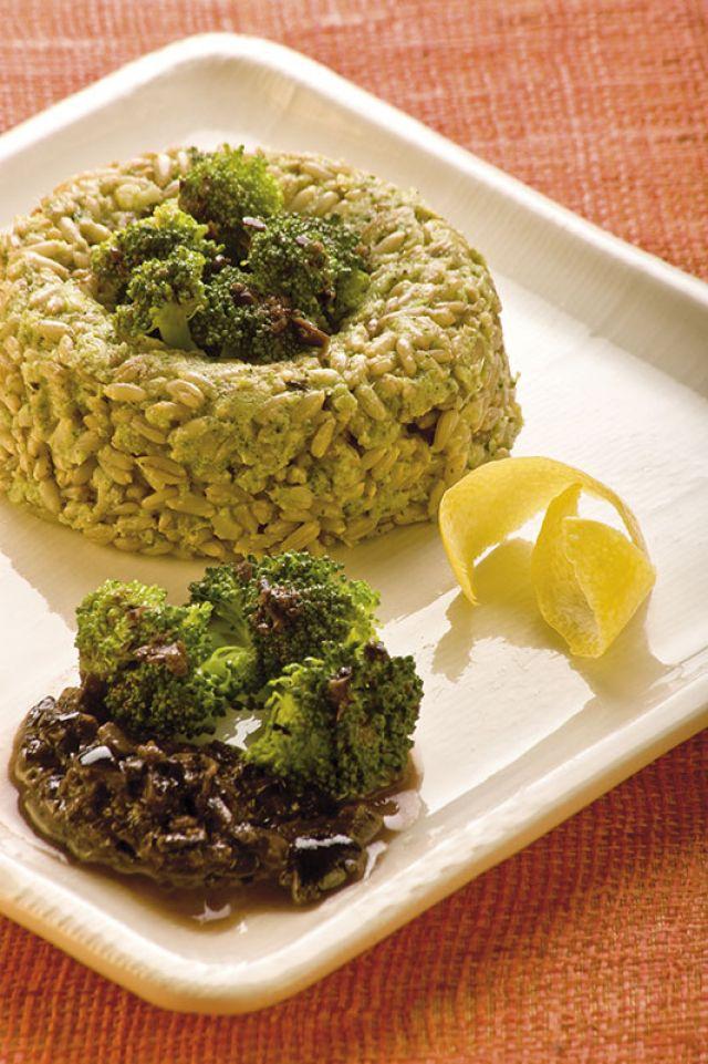 Anelli di avena con broccoletti e olive