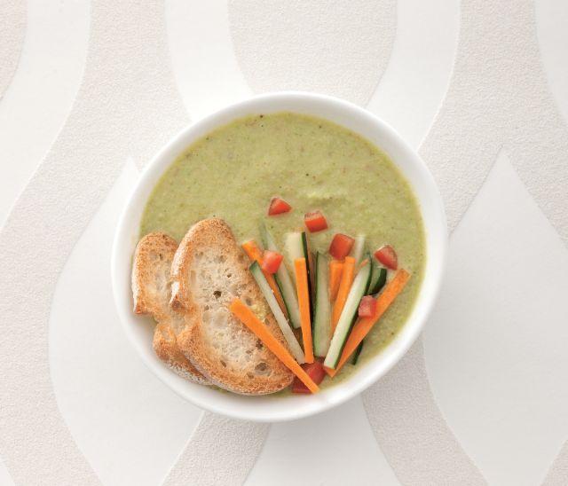 Gazpacho verde di peperone e avocado