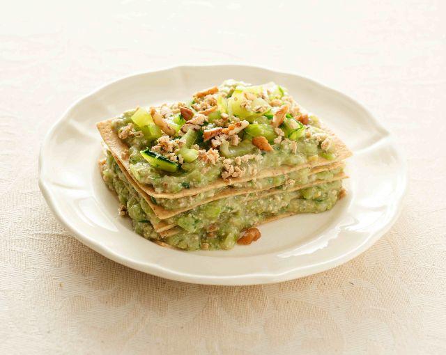 Lasagne integrali alla catalogna con tofu affumicato