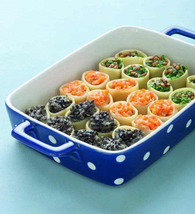 Calamarata colorata alle 3 lenticchie