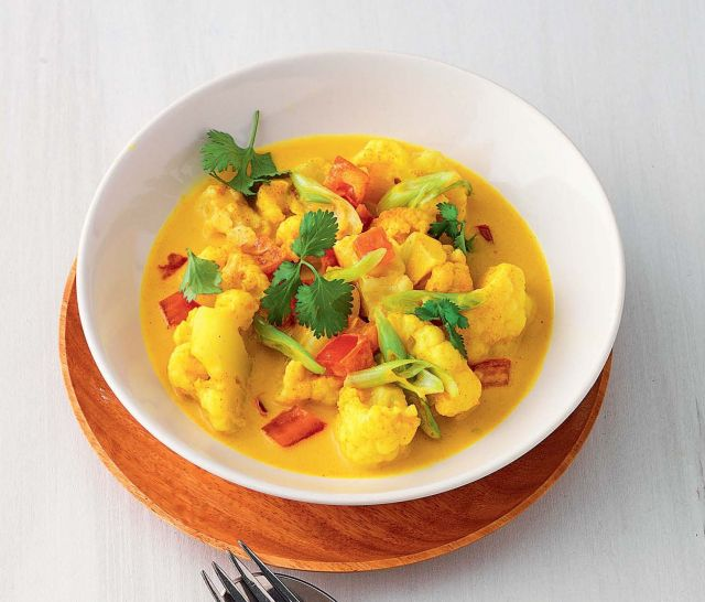 Cavolfiore al curry con zenzero e coriandolo
