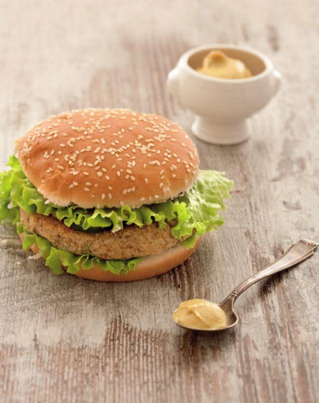 Hamburger vegetariano di lenticchie e patate