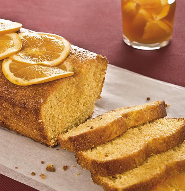 Plumcake speziato di mais alle arance