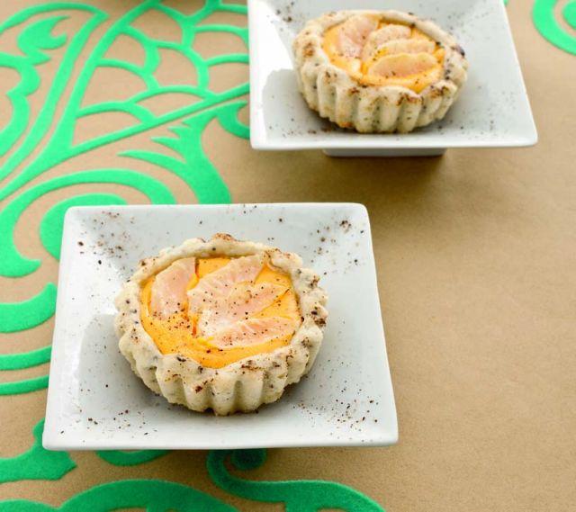 Tartellette con crema di zucca e sedano rapa