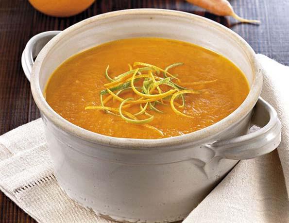 Crema di carote con agrumi e zenzero