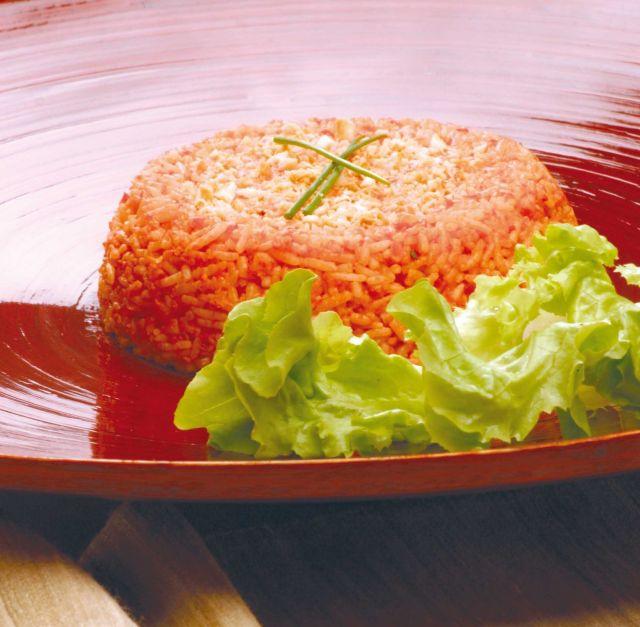 Crema di peperoni e mandorle con riso
