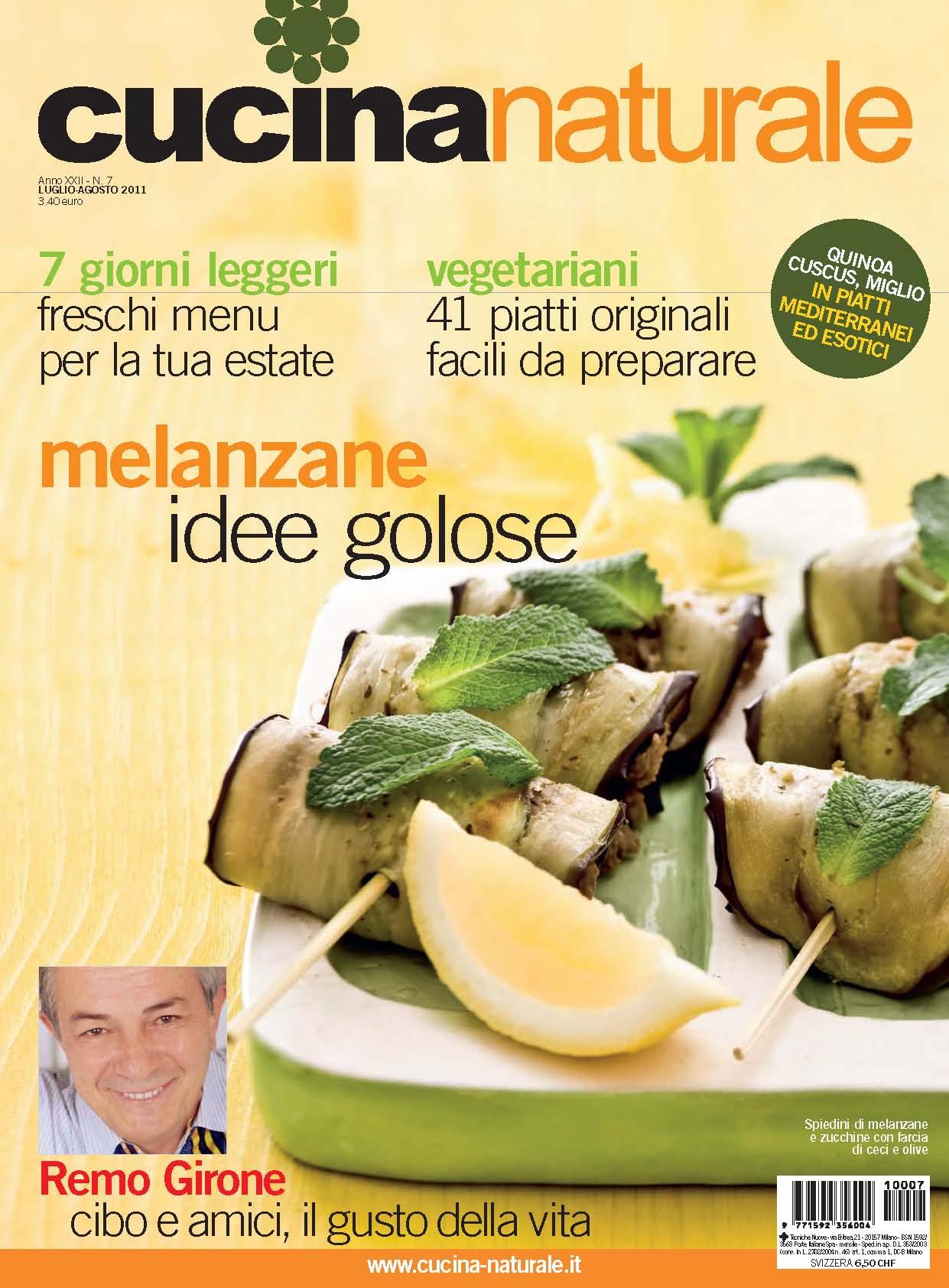 Cucina Naturale di luglio/agosto: Cucina vegetariana con lo chef Antonio Scaccio - 4 ricette leggere delle melanzane alla parmigiana - Ricette veloci con cuscus, bulgur e miglio