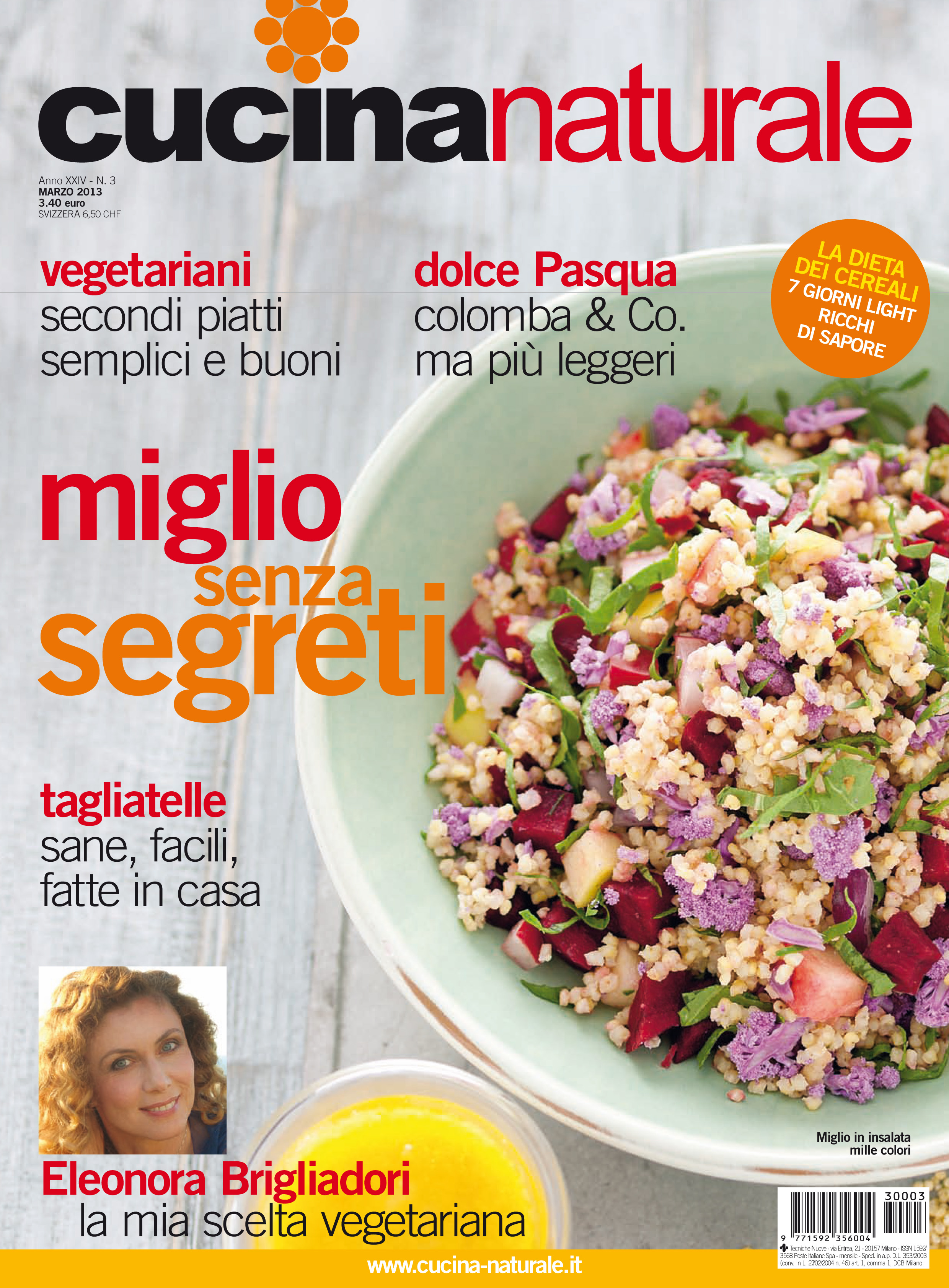 Cucina Naturale di marzo: speciale cereali