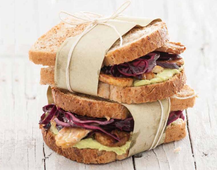 Sandwich con tempeh