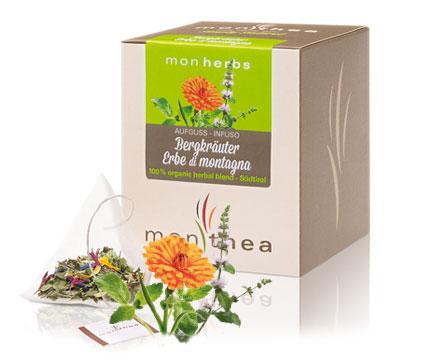 Monthea - Tè e infusi biologici dell'Alto Adige