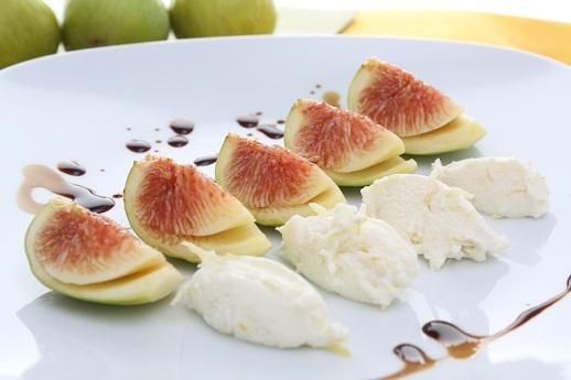 Dessert di fichi freschi