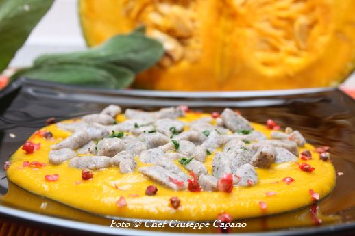 Gnocchetti saraceni alla salvia con crema di zucca