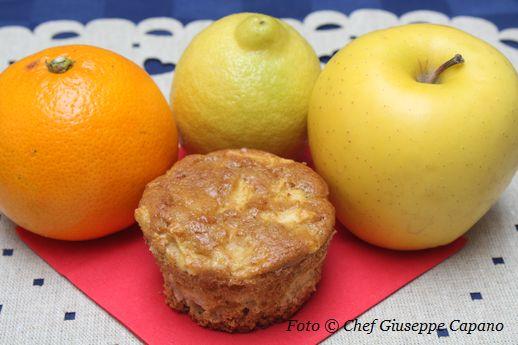 Tortine o muffin di mele agli agrumi
