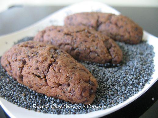 Biscotti al papavero e cioccolato
