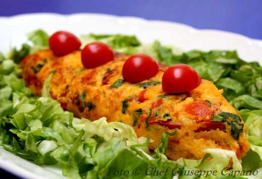Omelette al pomodoro e basilico