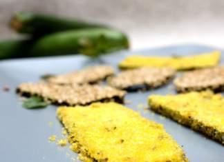 Zucchine croccanti al forno con doppie erbe e impanatura