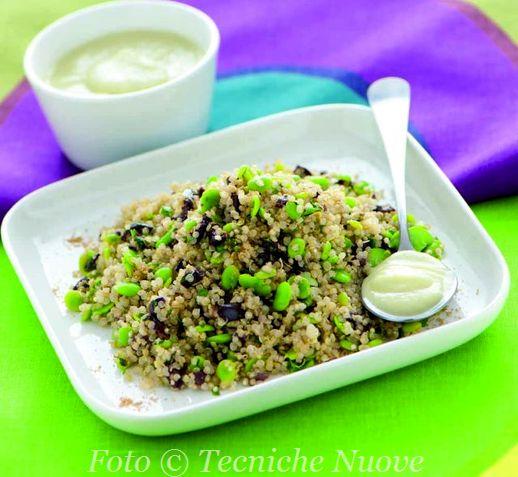 Quinoa con fave e olive in salsa di finocchi