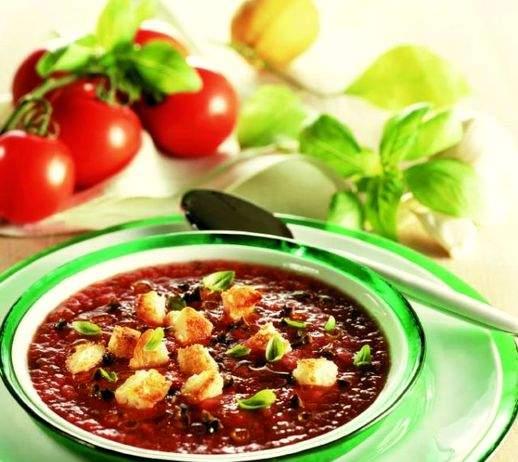 Crema profumata di pomodori con crostini 518