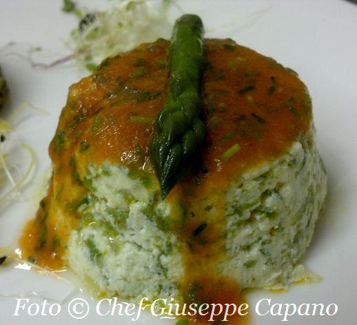 Sformatini di asparagi e ricotta con salsina all'erba cipollina 518