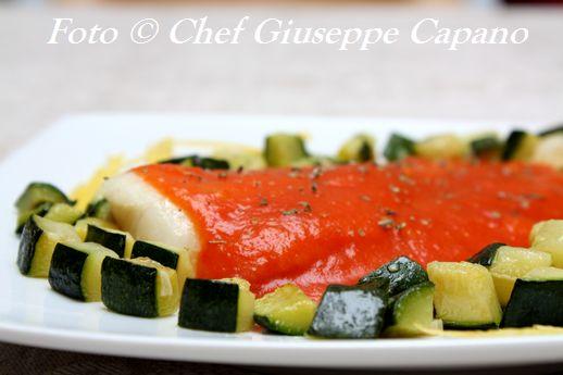 Merluzzo al pomodoro con zucchine trifolate 518