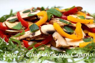 Insalatina di peperoni grigliati e funghi alla menta 318