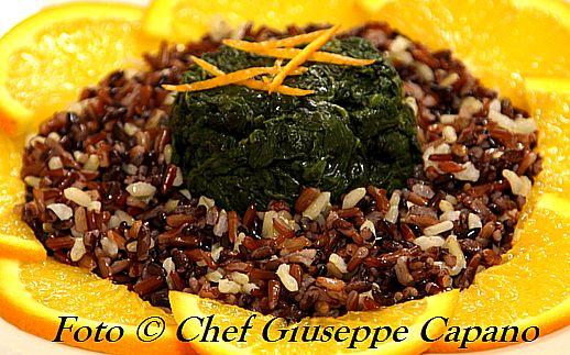 Corona di risi e spinaci aranciati 518