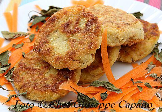 Polpettine schiacciate al cavolfiore, carote e basilico 518