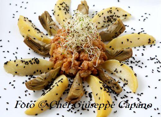 Farro aromatico con patate e carciofi 518