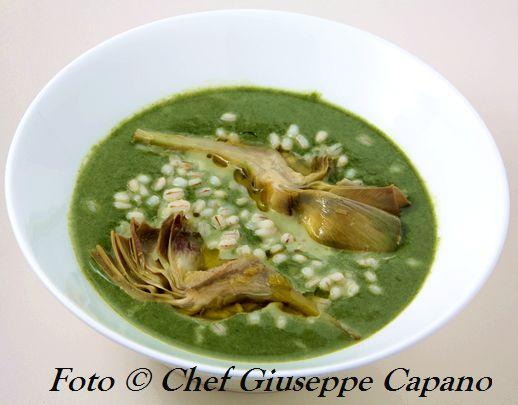 Zuppetta d'orzo, spinaci e carciofi_518