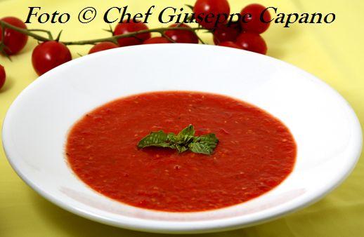 Crema di pomodori freschi al profumo di basilico 518