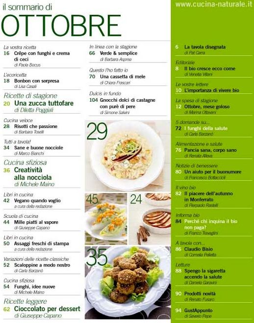 gusto e salute in cucina ? il blog di giuseppe capano» blog ... - Rivista Cucina Naturale
