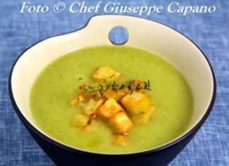 Crema di broccoletti e patate profumate al timo 518