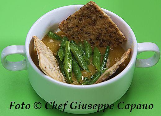 Crema alle tre verdure e mini cracker integrali con lenticchie 518