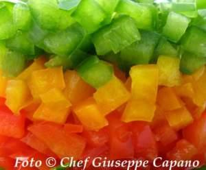 Tartare colorata di peperoni 518 particolare