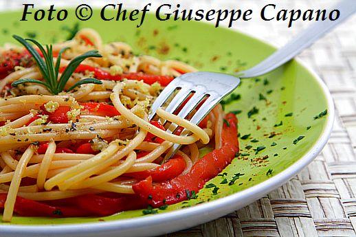Spaghetti ai peperoni e olio aromatizzato 518 bis