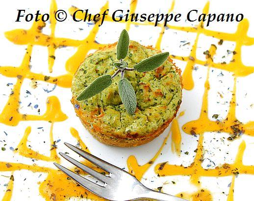 Cicoria catalogna in piccoli sformati con salsa di carote 518