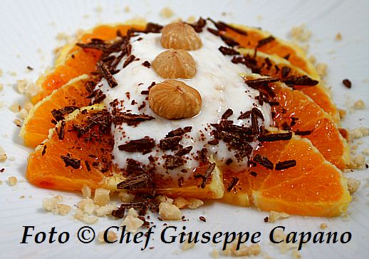 Dessert di arance con crema alle nocciole 518