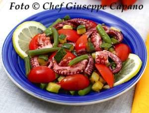 Polipo in insalata con verdure 518
