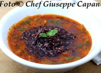 Zuppa di sedano maremmana con riso nero e olio al basilico 518